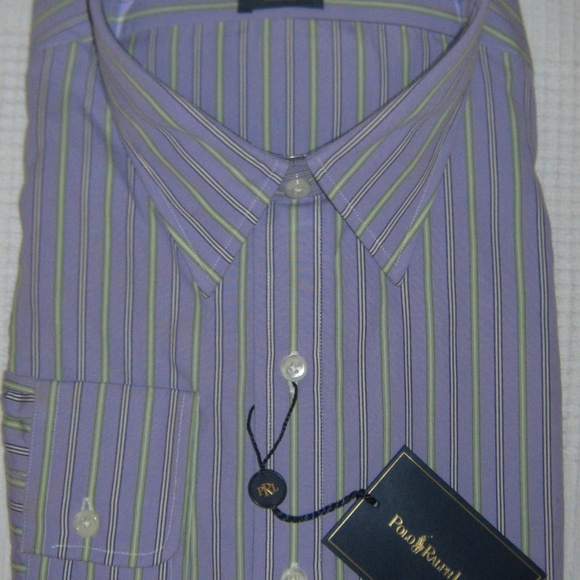Polo by Ralph Lauren Other - Ralph Lauren Andrew Striped Purple Dress Shirt